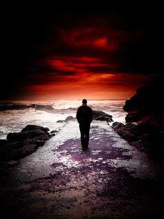♂ Solitude Nature man red cloud