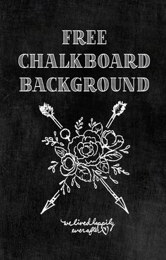 Another Free Chalkboard Background!