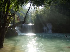 Kuang Si Lagoon, Luang Prabang, Laos | Flickr - Photo Sharing!