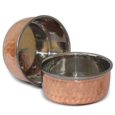 Indian Copper Bowls Small Handmade Tableware,Set of 2