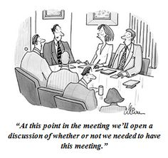 cartoon unnecessary meetings