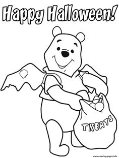 Print Pooh Toddler Halloween S Printable688e Coloring Pages
