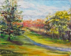 Auburn Heights, 8x10 oil by Annie Strack, (sold)
