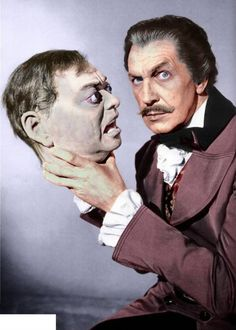 "Vincent Price and Peter Lorre's head - ""Tales of Terror"" [1962]"