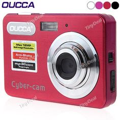 "OUCCA DC525 2.7\"" LTPS-LCD Screen CMOS Sensor 8X Digital Zoom DC Digital Camera with SD Card Slot VDC-141589"