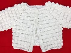Sweterek dla niemowlaka na szydełku, rozpinany, rozmiar 6 miesięcy, cz.1/2 - YouTube
