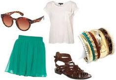 Casual cute summer outfit with glasses sandals and a cute tip and bottom so cute :)
