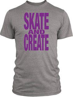 Big Texas Skate and Create (Purple) Vintage Tri-Blend T-Shirt