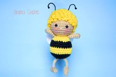 Maya the Bee Amigurumi crochet doll by BramaCrochet on Etsy