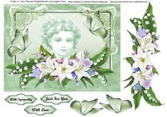 Lily s Butterflies Memories Topper Decoupage on Craftsuprint - Add To Basket!