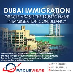Oracle Visas is the trusted name in Immigration Consultancy. The word on the street has been our best marketing tool from a large number of satisfied customers. Oracle Visas have issued visas for a… Australia Visa, Marketing Tools, Dubai, Street