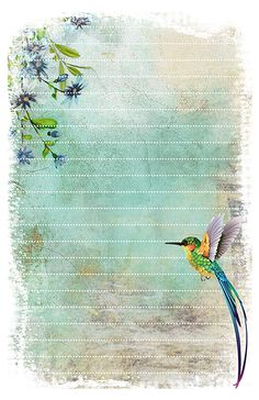 Printable Hummingbird Stationery Pen Pal Papers hummingbird stationery free printable The post Printable Hummingbird Stationery Pen Pal Papers appeared first on Paper Diy. Diy Stationery Paper, Free Printable Stationery, Stationery Pens, Free Printables, Printable Scrapbook Paper, Printable Paper, Printable Tags, Printable Coloring, Envelopes Decorados