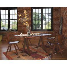 Saloom Furniture Soma Dining Table Table Top: Strata Top, Finish: Aurora