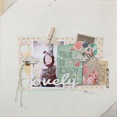 Lovely layout by michikok - Two Peas in a Bucket #scrapbooking #dearlizzy