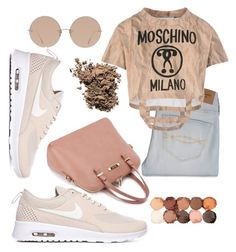 """""""casual"""" by kyahjhene ❤ liked on Polyvore featuring Abercrombie & Fitch, Moschino, Linda Farrow, NYX and Dolce&Gabbana"""