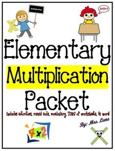 Elementary Multiplication Packet (SUPER JAM-PACKED!) from Mrs Lane on TeachersNotebook.com -  - This packet contains TONS of fabulous items to teach multiplication to elementary students, from activities and games, printable worksheets, handouts, posters, and more! These wonderful resources will
