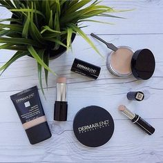#DermablendPRO… loved by makeup artists and makeup professionals, available to ALL makeup lovers!  Dermablend is a highly pigmented line of cream, liquid, and powder foundations with enough coverage to cover up scars, acne, tattoos, veins, bruises, and more! These products are opaque in pigment, high in quality ingredients, and available in every finish and shade.  Get color matched to Dermablend in-store today to your favorite finish above! Left to right: Smooth Liquid Camo foundation, ...