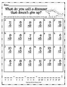 Best Maths Riddles Images  Maths Riddles Fun Math Math Activities A Dinosaur Riddle  Addition  Subtraction