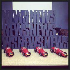Fabulous Magazine/newspaper Holders with Vintage Model cars to complement in color and style! www.topolanksy.co.za