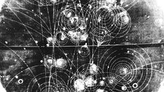 It's pretty widely accepted that circular gallifreyan is based on the cogs from clocks, but today I stumbled across some photographs of particle tracks that may have changed my mind Cgi, Cosmos, Particle Collider, Circular Gallifreyan, Large Hadron Collider, Quantum Physics, Science Art, Sacred Geometry, Fractals