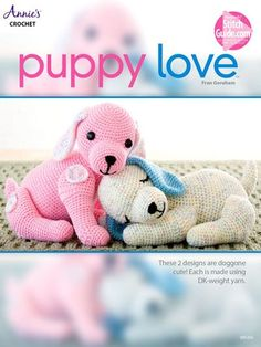 These two puppies are as fun to crochet as they are to play with get the pattern http://www.bookdrawer.com/go/puppy-love-crochet/