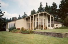 "Northwest Regional Modernism Characteristics •Combines forms of European modernists with local detailing •Extensive use of local materials – wood like cedar and VG fir, local stone, concrete •Influenced by Scandinavian and Japanese architecture •Emphasis on use of natural light •""Warmer"" version of modernism"