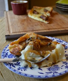 Toad in the Hole with Roasted-Onion Gravy - Delia Smith (make it with Veggie sausages!)