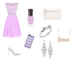 """""""Prom"""" by cooper-spencer ❤ liked on Polyvore featuring Reception, Gianvito Rossi, Vera Bradley, Deborah Lippmann, Kate Spade, Carolee, women's clothing, women, female and woman"""