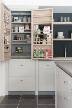 Kitchen Storage | Neptune Kitchen Full Height Cabinets - Limehouse 690 Full Height Larder Cabinet - Right