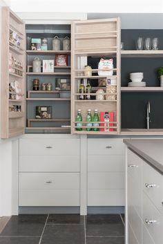 Neptune Kitchen Full Height Cabinets - Limehouse 690 Full Height Larder Cabinet - Right