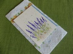 Keep your splattered paint card on a paper towel to keep it clean while you are working on it.-myflowerjoural.com