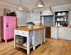 Sociable family kitchens   Period Living. Image above: Shaker in-frame kitchen in Pearl, from £20,000 at John Lewis of Hungerford (0700 278 4726; john-lewis.co.uk)