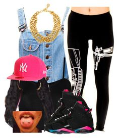 """."" by trillest-queen ❤ liked on Polyvore featuring Hang Ten, WearAll, Nicki Minaj, New Era and Ben-Amun"