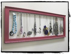 Life Crafts & Whatever: Krylon Dual Paint + frame = necklace display