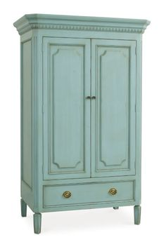Swedish Armoire @ CoachBarn.com in Robins Egg Blue #coachbarn #furniture