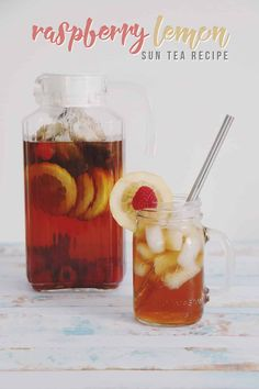 Raspberry Lemon Sun Tea Recipe – Hello Nature Cool off this Summer with this refreshing raspberry lemon sun tea recipe! It's a fun and fruity twist on your traditional sun tea! Sun Tea Recipes, Summer Recipes, Apple Recipes, Drink Recipes, Fruit Tea, Fruit Drinks, Beverages, Alcoholic Desserts, Summer Desserts