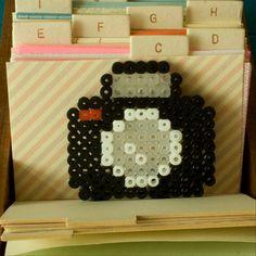 *  DIANA CAMERA brooch - Hama beads by milk tooth's rain, via Flickr