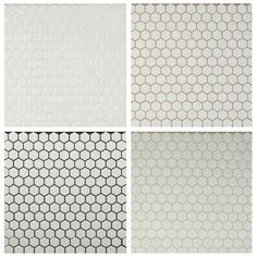 gray grout (between the ones) with small matte white hexagon tiles for the floor. Possible occasional black one for interest. Have to be black grout for floor Hex Tile, Tile Grout, Bathroom Floor Tiles, Bathroom Grey, Tiling, Hexagon Tile Backsplash, Floor Grout, Modern Bathroom, Hexagon Tile Bathroom Floor