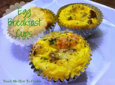 Egg Breakfast Cups: easy to make for breakfast on the fly! Make ahead, freeze, and then pop them in the microwave for those mornings when you want something healthy, but need to rush out the door!
