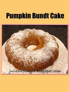 Julie's Lifestyle: Pumpkin Bundt Cake