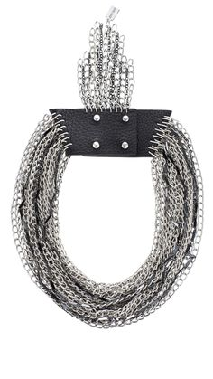 I need to add this edgy necklace to my wardrobe!