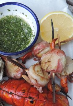Chimichurri sauce for Scallops - all the things