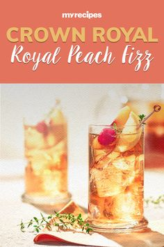 Crown Royal's New Peach Whisky Has Us Dreaming of Summer Whiskey Mixed Drinks, Peach Whiskey, Easy Mixed Drinks, Whiskey Girl, Scotch Whiskey, Bourbon Drinks, Irish Whiskey, Peach Alcohol Drinks, Peach Drinks