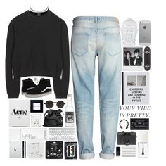 """""""Just because you feel it doesn't mean it's there."""" by paper-faces-on-parade ❤ liked on Polyvore featuring H&M, Luvvitt, Patagonia, Acne Studios, Vans, Bobbi Brown Cosmetics, French Connection, Ann Demeulemeester, NARS Cosmetics and Holga"""