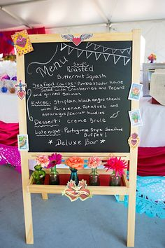 Need to find some chalkboards for the reception... Drinks/food/activities/thanks