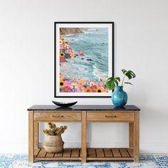 Colorful Coastal Digital Download Printable Digital Wall Art   Etsy Coastal Wall Decor, Blue Wall Decor, Nautical Pictures, Mixed Media Artwork, Digital Wall, International Paper Sizes, Blue Walls, Surreal Art, Printable Wall Art