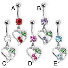 Belly button ring with cherries in a heart Hearts AND cherries, what more could a girl ask for Heart Piercing, Belly Button Piercing, Navel Piercing, Body Piercing, Belly Piercings, Belly Rings, Belly Button Rings, Wholesale Body Jewelry, Gold Body Jewellery