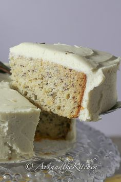 Moist Banana Cake with Cream Cheese Frosting - one of the best banana cake recipes!