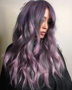 pastel ash purple hair color