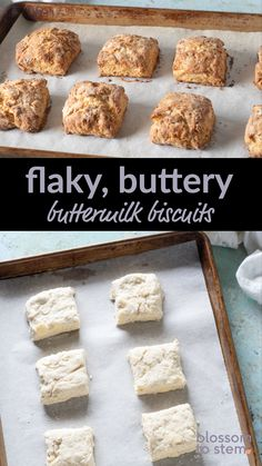 These flaky, buttery biscuits are incredibly easy to make. There's no rolling pin or biscuit cutter required. Best Buttermilk Biscuits, Buttery Biscuits, Drop Biscuits, Fast Healthy Breakfast, Breakfast Recipes, Rustic Italian Bread, Food Words, Kitchen Recipes, Rolling Pin